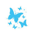 blue butterflies for your design vector image vector image