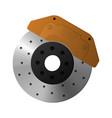 brake disc caliper and pad vector image