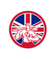 british drainlayer union jack flag icon vector image vector image