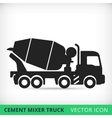 Cement mixers truck flat icon vector image vector image