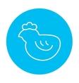 Chick line icon vector image