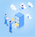 cloud computing isometric concept vector image vector image