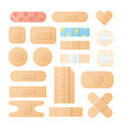 collection of adhesive bandages plasters or vector image vector image