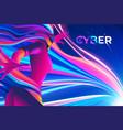 cyber theme design vector image vector image