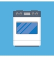 Electric cooker oven vector image