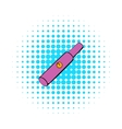 Electronic cigarette cartridge icon comics style vector image vector image