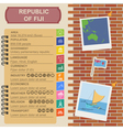 Fiji infographics statistical data sights vector image vector image