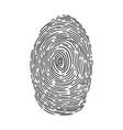 fingerprint sketch vector image