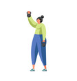fitness and gym people flat isolated vector image vector image