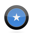 flag of somalia shiny black round button vector image vector image