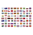 flags world sovereign states vector image vector image