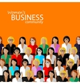flat of women business community a large group of vector image vector image