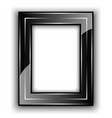Frame for photo Black with metal lines vector image vector image