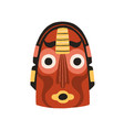funny ethnic indian tribal mask with round eyes vector image vector image