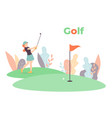 golf time concept vector image vector image