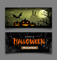 halloween banners horizontal collections vector image vector image