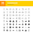handmade line web glyph icons vector image vector image