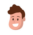 happy and nice head man with hairstyle vector image vector image