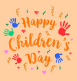 happy childrens day celebration style vector image vector image