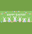 happy easter horizontal banner or cover easter vector image vector image