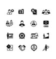 human resources and person management icons job vector image