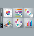 infographics design set with 3 4 and 5 options vector image