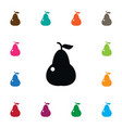 isolated pear icon punching bag element vector image vector image