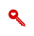 key heart icon graphic design template vector image vector image