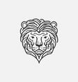 Lion Line Mono vector image