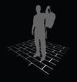 man silhouette on brick vector image
