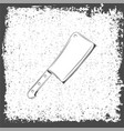 meat cleaver knife icon vector image