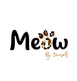 meow ink lettering sales and marketing vector image vector image