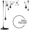 nail polish drop black vector image vector image