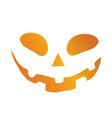 orange gradient halloween holiday pumpkin face vector image vector image
