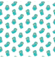 Owl turquoise seamless pattern vector image vector image