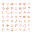 pointer icons vector image vector image