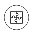 puzzle icon line vector image