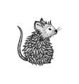rat dotwork vector image