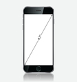 Realistic black mobile apple iphone 6 plus vector image vector image