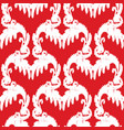 red and white elegant seamless pattern vintage vector image
