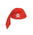 red pirate head scarf vector image