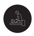 relaxing massage black concept icon vector image vector image