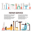 repair service tools banner vector image