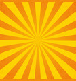 retro orange background ray in vintage style with vector image vector image