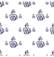 seamless pattern cup of poison and a skull vector image