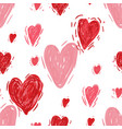 seamless pattern with hearts valentines day vector image
