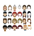 set avatars female faces design vector image vector image