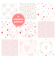 Set of nine pink seamless patterns vector image vector image