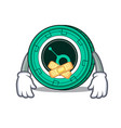 silent siacoin mascot cartoon style vector image vector image
