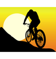 Silhouette of a mountain biker